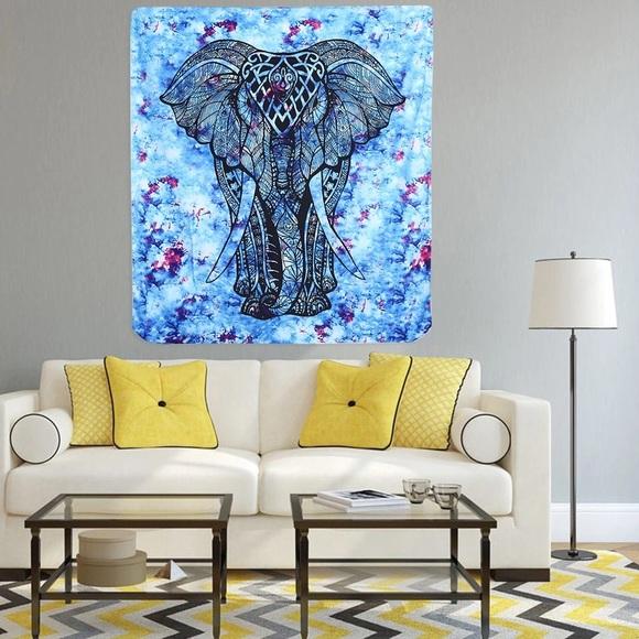80d2346027e6 mexicali blues Wall Art | Tie Dye Bohemian Elephant Tapestry | Poshmark